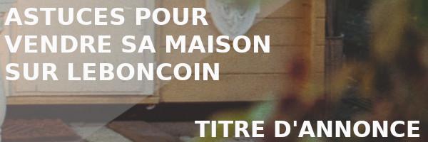 titre annonce vente leboncoin