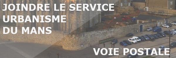 service urbanisme le mans voie postale