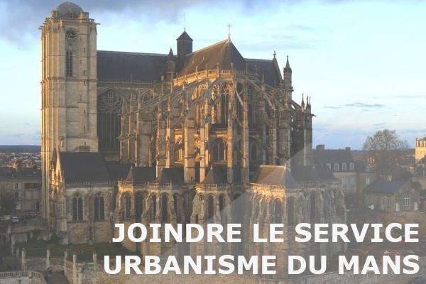 joindre service urbanisme le mans
