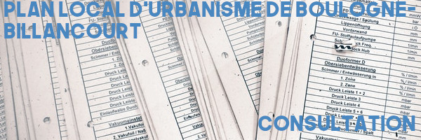 PLU Boulogne-Billancourt consultation