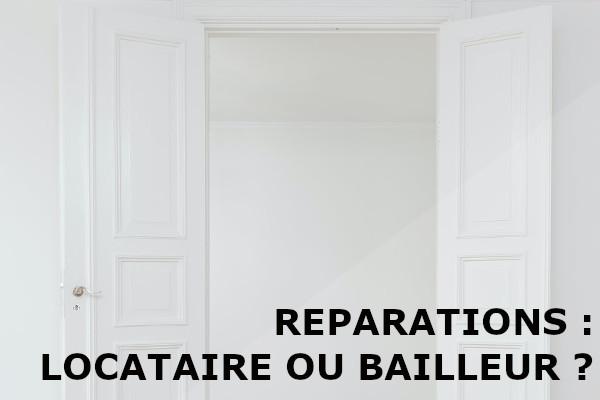 réparations locataire bailleur
