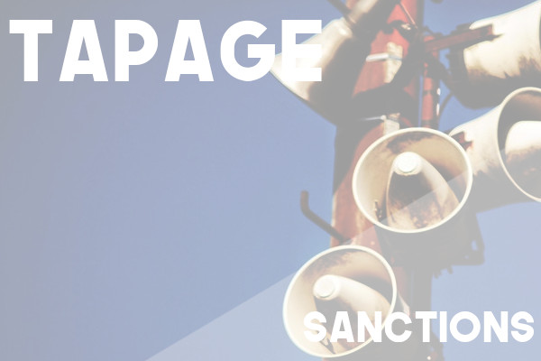 tapage sanctions