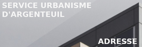 adresse service urbanisme argenteuil