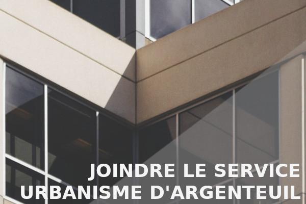 joindre service urbanisme argenteuil