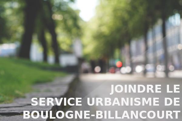 service urbanisme boulogne-billancourt