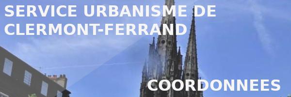 coordonnées service urbanisme clermont-ferrand