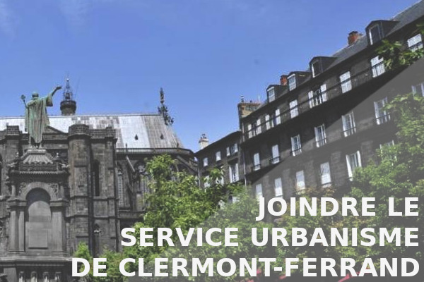 joindre service urbanisme clermont-ferrand