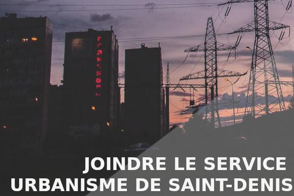 joindre service urbanisme saint-denis
