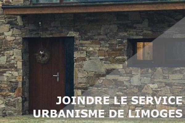 joindre service urbanisme limoges