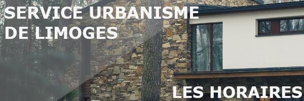 horaires service urbanisme limoges