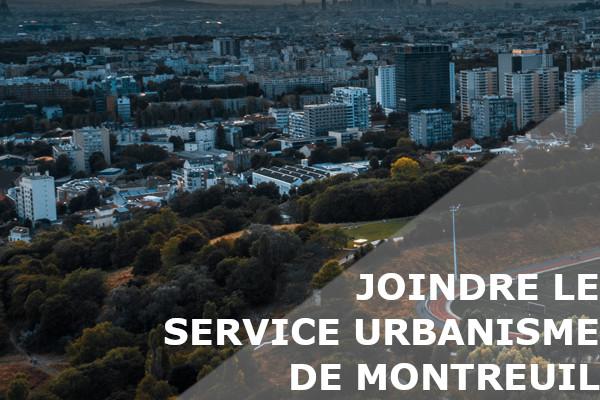 service urbanisme montreuil