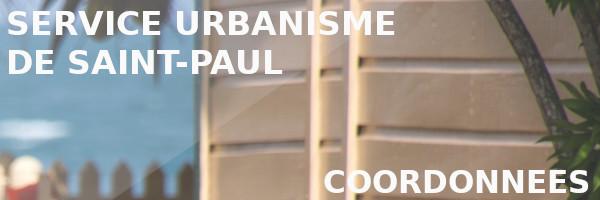 coordonnées urbanisme saint-paul