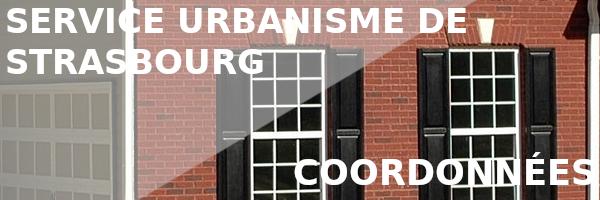 coordonnées urbanisme strasbourg