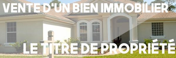 vente immobilier titre